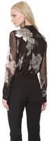 Vera Wang collection Rose Printed Chiffon Blouse