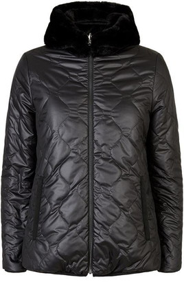 James Lakeland Reversible Faux Fur Puffa Coat