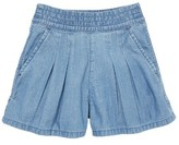 Toddler Girl's Mini Boden Pull-On Denim Shorts