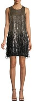 Thumbnail for your product : Parker Allegra Feather-Trim Sequin Dress