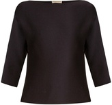 Bottega Veneta Boat-neck wool-crepe top