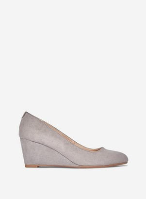 Dorothy Perkins Womens Grey 'Dreamer' Wedge Court Shoes, Grey