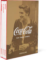 Assouline Set Of 3 Hardcover Books Coca-cola: Film, Music And Sports - White