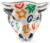 Gucci Anger Forest enameled bull's head ring