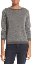 Equipment Calais V-Back Metallic Wool Blend Sweater