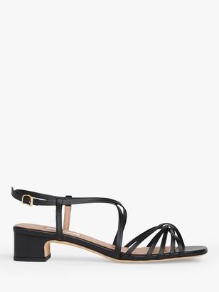 LK Bennett Newport Multi Strap Low Block Heel Leather Sandals