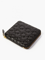 Comme Des Garcons Wallet Black Embossed Leather Wallet