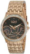 Burgi Women's BUR081RG Analog Display Swiss Quartz Rose Gold Watch