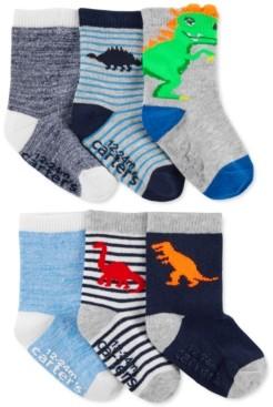 Carter's Toddler Boys 6-Pk. Dinosaur Crew Socks