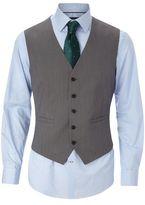 Burton Burton Tailored Fit Grey Textured Waistcoat