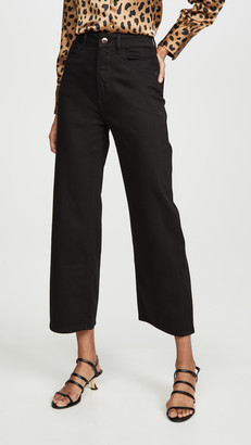 DL1961 x Marianna Hewitt Hepburn High Rise Wide Leg Jeans