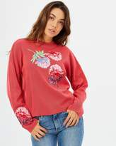 Floral Embroidered Co-Ord Jumper