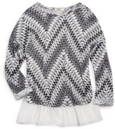 Pinc Premium Girls' Knit Print Ruffled Hem Top - Sizes S-XL