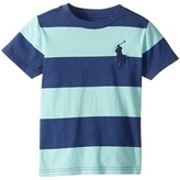 Polo Ralph Lauren 30/1 Yarn-Dyed Jersey Short Sleeve Crew Neck Striped Top Boy's T Shirt