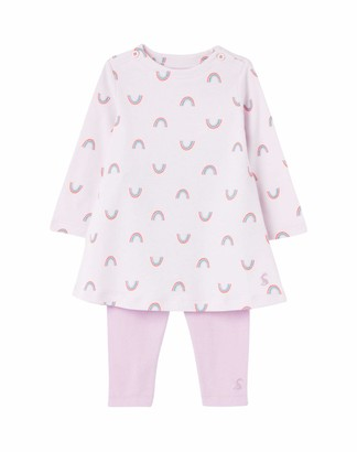 Joules Baby Christina Dress & Leggings Set - Lilac Rainbo - 9-12 Months / 80 cms