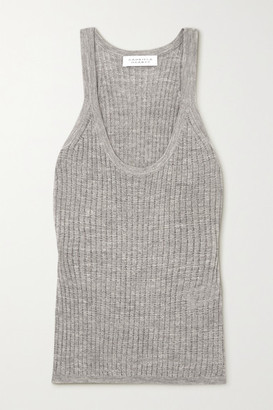Gabriela Hearst Graham Pointelle-knit Cashmere And Silk-blend Tank - Light gray