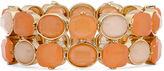 Liz Claiborne Peach and Gold-Tone Stretch Bracelet