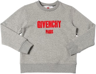 Givenchy Logo Embroidered Cotton Sweatshirt