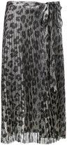 Haider Ackermann leopard print pleated skirt - women - Silk/Polyester/Spandex/Elastane - 36