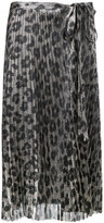 Haider Ackermann leopard print pleated skirt