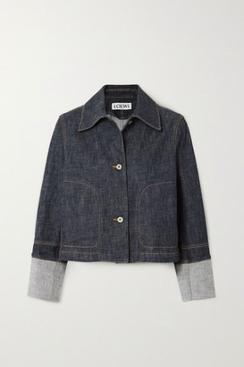 Loewe Cropped Denim Jacket - Blue