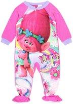 DreamWorks Trolls Toddler Girl Hug Time Footed Pajamas Blanket Sleeper (t)