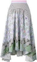 Peter Pilotto diamond print gingham skirt - women - Cotton/Spandex/Elastane - 14