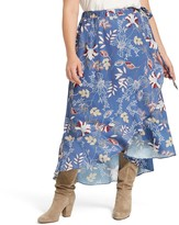 East Adeline By Dia&Co Plus Size East Adeline by Dia&Co High-Low Faux Wrap Maxi Skirt