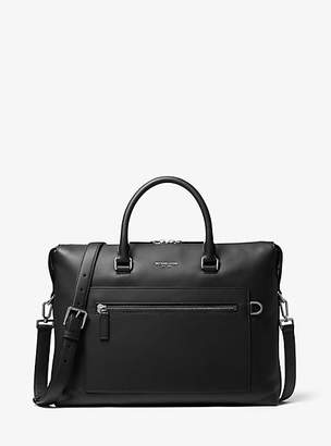 Michael Kors Greyson Leather Pocket Briefcase