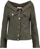 Robert Rodriguez Off-The-Shoulder Linen-Blend Jacket