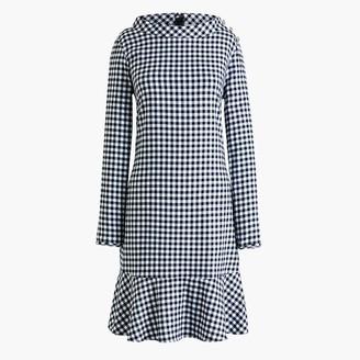 J.Crew Long-sleeve printed flannel funnelneck dress