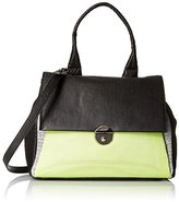 Milly Wythe Mixed Media Flap Convertible Top Handle Bag
