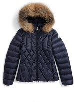 Moncler Girl's Adanna Down Jacket With Genuine Fox Fur Trim