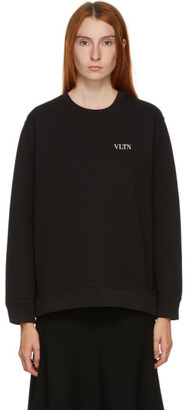 Valentino Black Tiny VLTN Logo Sweater