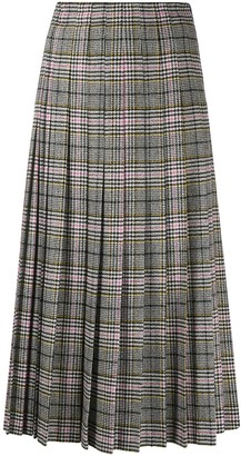 Ermanno Scervino Pleated Check Patterned Skirt