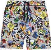 Kenzo Travel Stamp Cotton Shorts 4-16 Years