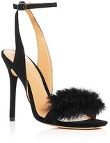 Halston Sheila Rabbit Fur High Heel Sandals