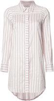 Milly striped shirt dress - women - Cotton/Silk - 8