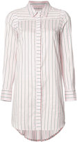 Milly striped shirt dress - women - Silk/Cotton - 8