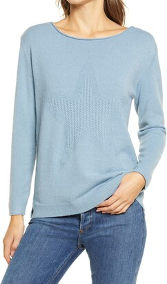 Wit & Wisdom Cable Knit Star Sweater