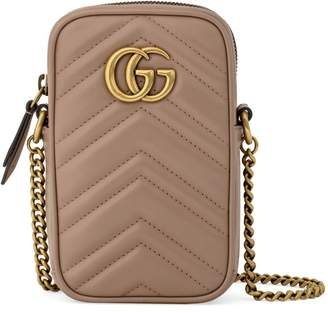 Gucci Mini GG Marmont 2.0 Quilted Leather Crossbody Bag