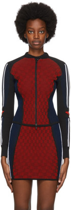 adidas Red Paolina Russo Edition Ribbed Track Jacket