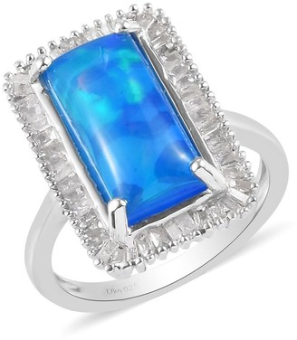 Shop Lc 925 Silver Opal White Diamond Ring Ct 10 I Color I3 Clarity