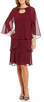 S.L. Fashions S.L.Fashions Beaded Round Neck Pebble Jacket Dress