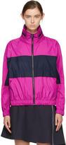 Kenzo Pink and Navy Logo Windbreaker Jacket