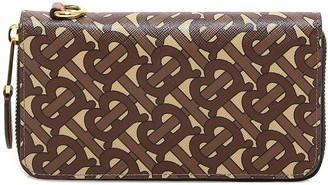 Burberry Monogram Zip-Around Wallet