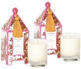 Seda France Pink Pomegranite Mini Pagoda Candles (2 OZ) (Set of 2)