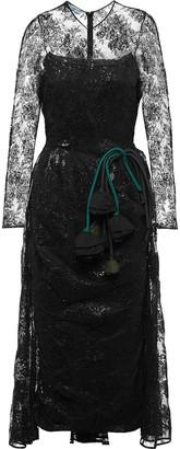 Prada lace midi dress
