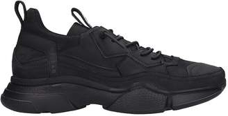 Bruno Bordese Sneakers In Black Suede And Leather