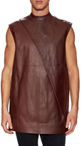 Rick Owens Leather Sleeveles Tunic